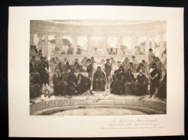 1902 Antique Print An Audience in Athens by Richmond